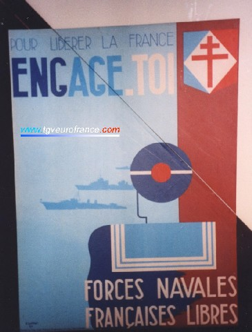 An advertisement for the young French men to join the navy forces for the liberation of France