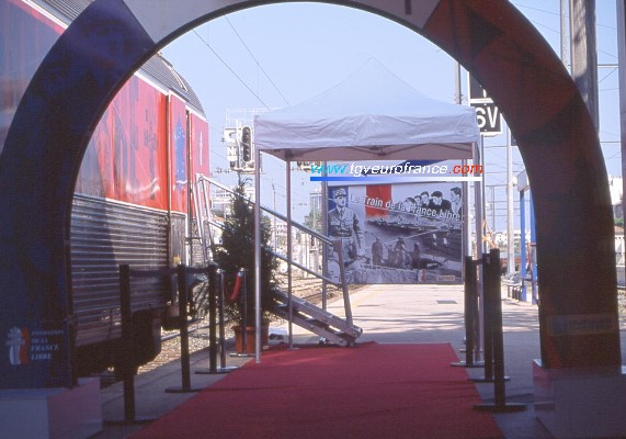 The entrance of the show in Toulon (Var)