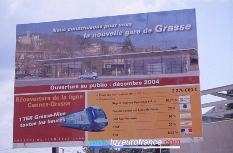 The new station of Grasse