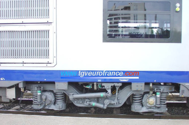 A bogie of the TER 2N NG railcar